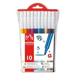 Caran D'ache Fancolor Wallet of 10 Watersoluble Fibre Tipped Pens thumbnail