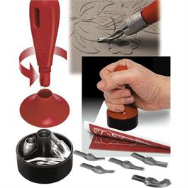 3 In 1 Lino Cutter & Baren Kit (10 Cutter Styles 1 To 10) Thumbnail Image 1