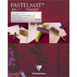 Clairefontaine Pastelmat Pad 12 Sheets Of WHITE thumbnail