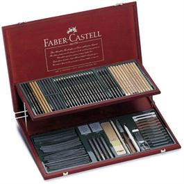 Faber Castell Pitt Monochrome Studies Set Wooden Case thumbnail