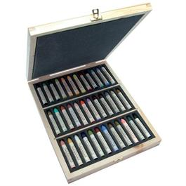 Sennelier Oil Pastels Wooden Box of 36 Assorted Colours thumbnail