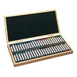 Sennelier Oil Pastels Wooden Box of 50 Assorted Colours thumbnail
